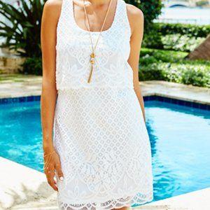 Lily Pulitzer White Stelle Lace Tank Dress